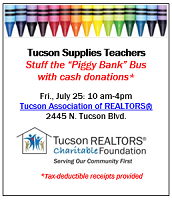 "THIS FRIDAY!  ""Stuff the Piggy Bank"" Bus with Cash Donations"