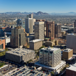 Downtown Phoenix aerial view looking Northeast (photo courtesy of Wikepedia)