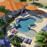 Living at the canyons poolside