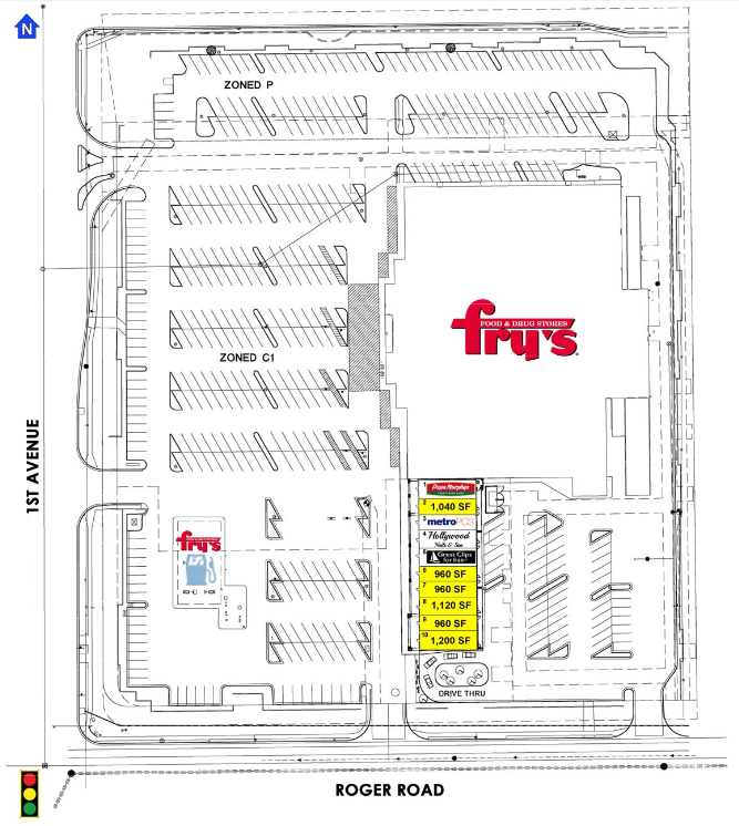 1st & Roger Site plan