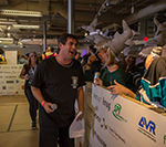 Adam Goodman, president and CEO of Goodmans Interior Structures, served as an official crowd pleaser during the Goodmans Chair Hockey Tournament. This year's event raised $10,000 for First Place® AZ, a local non-profit working hard to ensure that housing options for people with autism and other special abilities are as bountiful as they are for anyone else. Photo credit – K2 Creative.