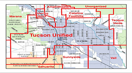 TUSD Resolution Opposes Anti-Education, Anti-Prosperity ... on map of all counties in northern california, apache county arizona, downtown chandler arizona, map of city limits tucson az,
