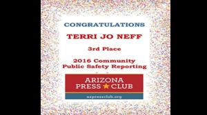 Real Estate Daily News Contributor, Terri Jo Neff Honored by Arizona Press Club