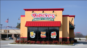 Popeyes going in at the NEC Speedway & Stone in Central Tucson