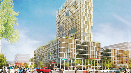 Shenkarow's 20-Story Speedway and Campbell Gateway Gets Nod