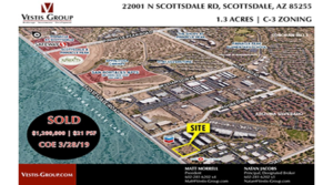 Vestis Group Brokers Sale of Infill Commercial Land in North Scottsdale for $1.2M