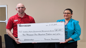 Terracon's Tucson office presents $2,500 grant to Southern Arizona Environmental Management Society
