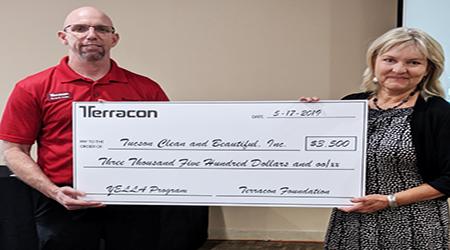 Terracon presents Tucson Clean & Beautiful $3,500 foundation