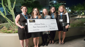 AZCREW presents $10,000 scholarship to MRED student Abby Perez at annual Black & White event