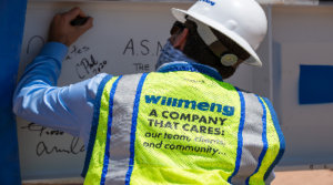 Willmeng Construction and Trammell Crow Company celebrate the topping out of Class A office development Axis Raintree