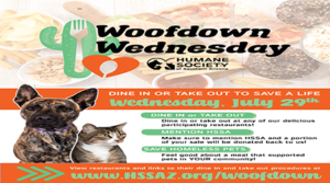 "The Humane Society of Southern Arizona and local restaurants to host 4th annual ""Woofdown Wednesday"""
